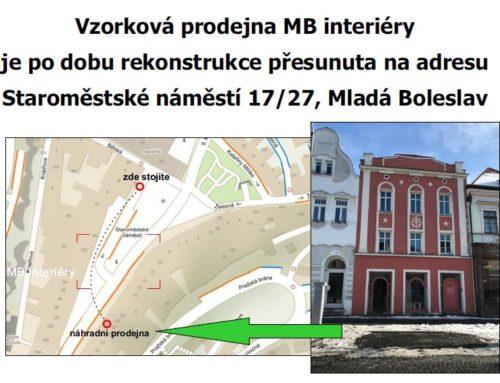 Rekonstrukce prodejny MB interiéry