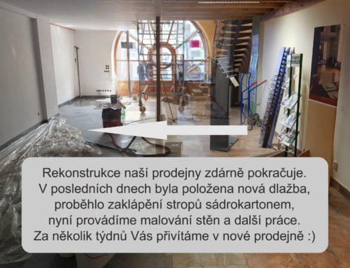 Rekonstrukce prodejny zdárně pokračuje